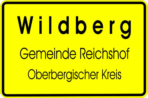 Ortsschild Wildberg
